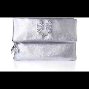 Victoria's Secret Angel Wings Fold Silver bag